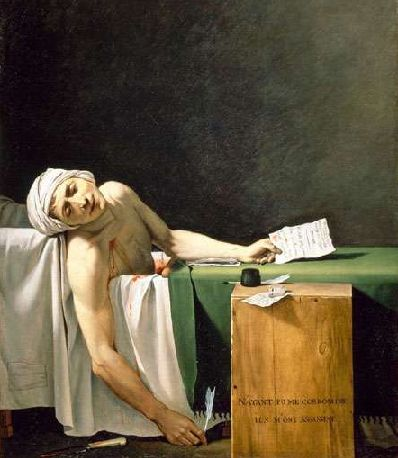 Marat assassiné, 13 juillet 1793 - par Jacques-Louis DAVID (Musée Fabre)