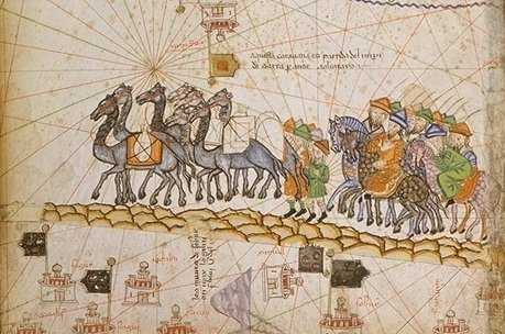 Caravan crossing the Silk Road (Bibliothèque Nationale de France)